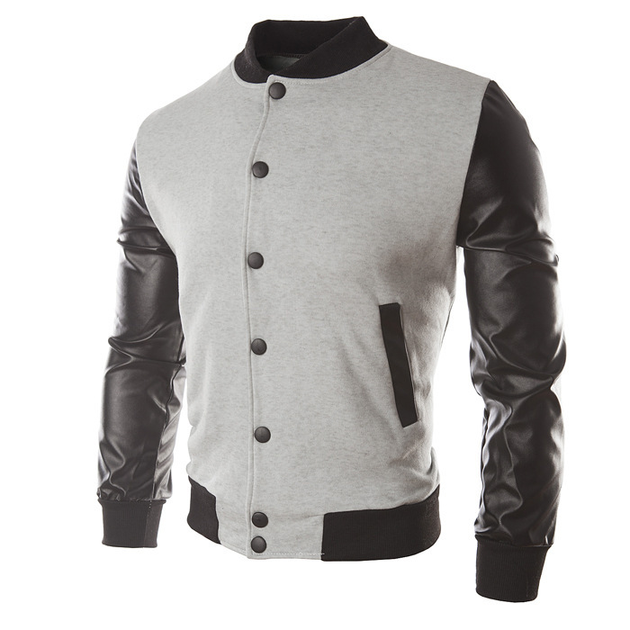 New Men Boy Baseball Jacket Men 2018 Fashion Design Wine Red Mens Slim Fit College Varsity Jacket Men Brand Stylish Veste Homme