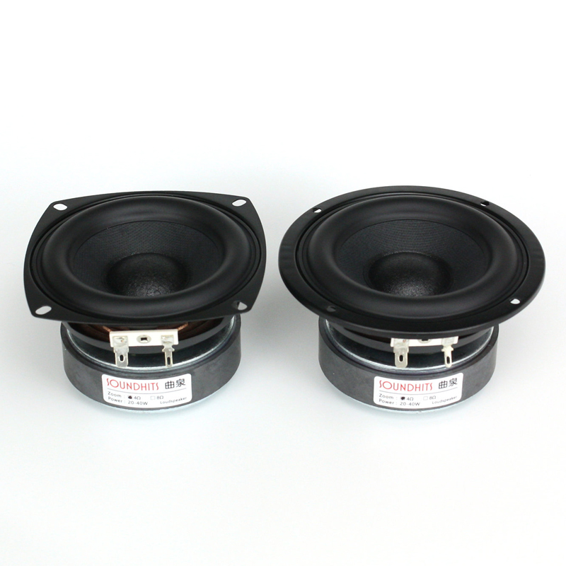 все цены на 2PCS Soundhits New SL-401 4inch Subwoofer Speaker Driver Unit Wide Rubber Surround Super Bass Fs=65Hz 4/8ohm 40W Round/Square онлайн