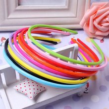 4mm 20 Pcs/lot Girl Headwear Kids Head Band Candy Colored Plastic  Hair Headdress Lady Hairband Headbands Accessories