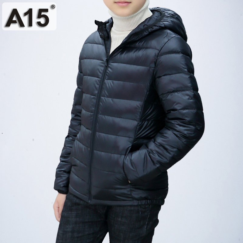 Image 4 - A15 Children Clothing Boys Winter Jacket 2019 Brand Hooded Kids Girls Winter Coat Long Sleeve Warm Parka Outwears Big 10 12 Year-in Down & Parkas from Mother & Kids