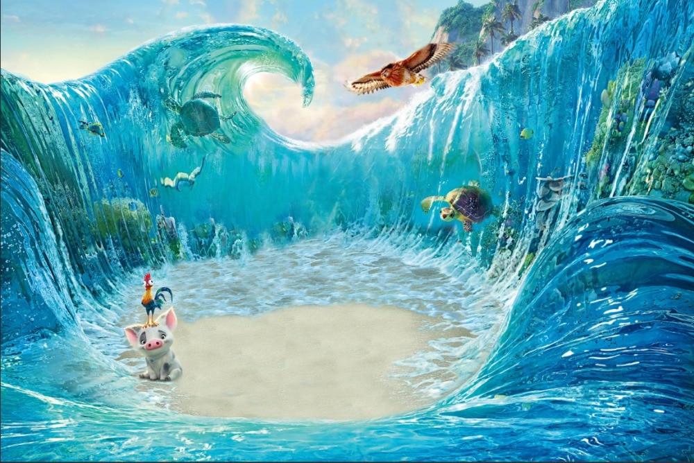 7x5ft moana waialiki maui surging wave custom photo studio - Moana download hd ...