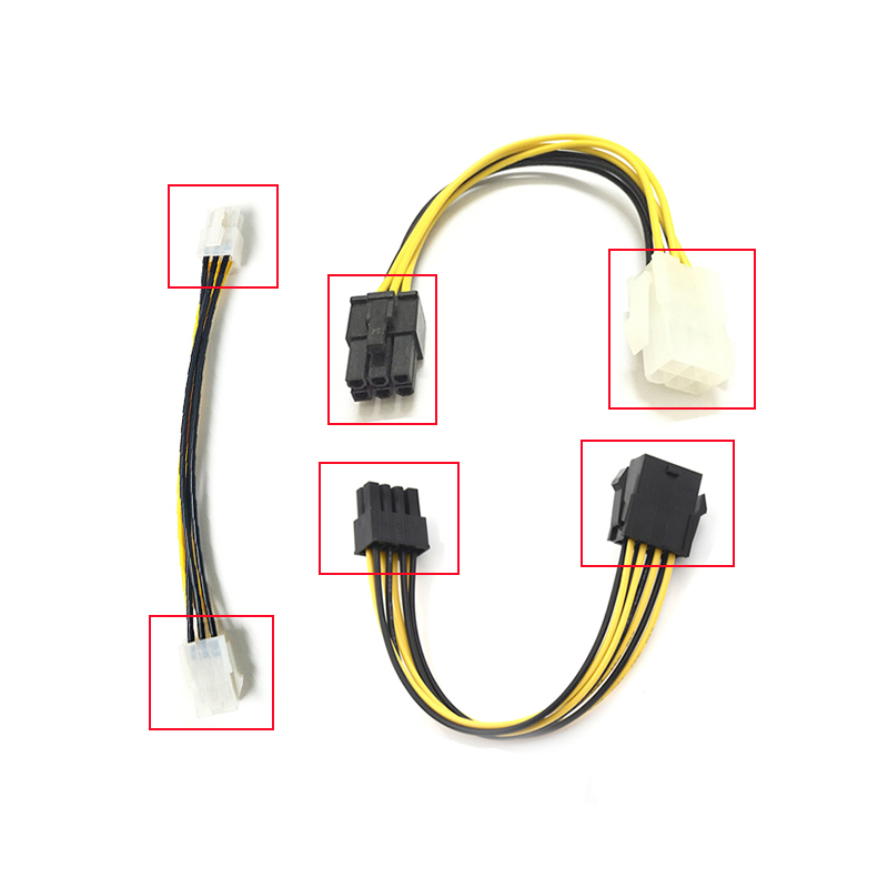 10×PCI-E PCI Express 6P Male to 6Pin Male Graphics Video Card DIY Power Cable