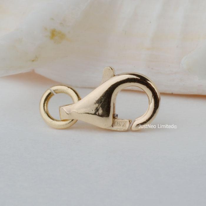 Fermoir en or jaune 18 k solide pince à homard déclencheur boucle Au750 18ct oro pour collier bracelet résultats de bijoux