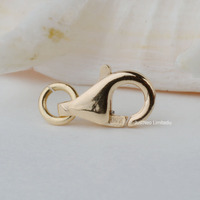 Solid 18k Yellow Gold Clasp Lobster Claw Trigger Bbuckle Au750 18ct oro for necklace bracelet jewelry findings