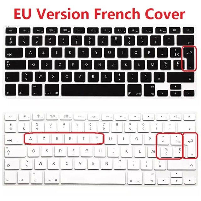 1pcs Eu Euro Azerty French Keyboard Cover For Macbook Air