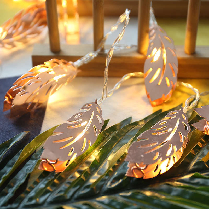 Led Iron String Light Nordic INS Bedroom Decoration Lights Feather Led Christmas Decorative Fairy Strip Light For Wedding
