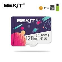 Bekit tarjeta Micro SD de 16gb, 32gb, 64gb, 128gb, 256gb Class10, A1, UHS 3, 80 Mb/s, para Smartphone y pc de mesa