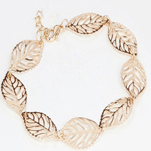 Women Fashion Summer Hollow Charm Creative Leaf Shape Anklet Holiday Jewelry