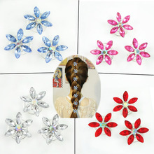 6PCSmovie Elsa Custom hairpins for wig Cosplay Costume Snow Queen Anime women Twists Spins Hair Pins