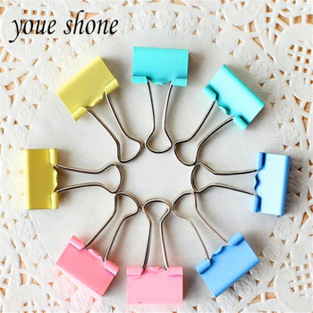10pcs/lots color Metal paper clips lots dovetail clip cute long tail for school study office essential YOUE SHONE