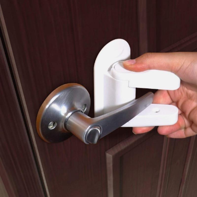 Door Lever Lock Safety Child Proof Doors 3m Adhesive Lever
