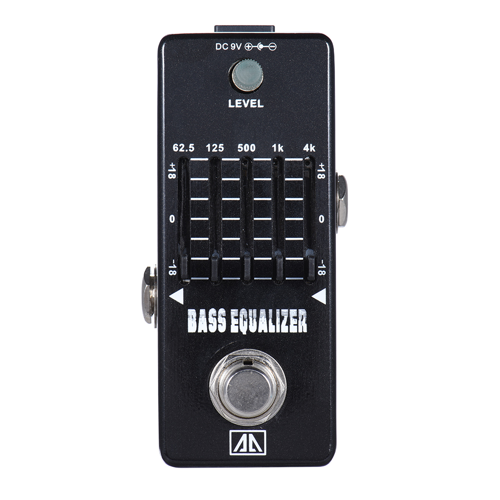 AROMA AEB-5 High Quality Bass Equalizer Pedal With True Bypass 5-Band EQ Aluminum Alloy Body Guitarra Accessory joyo eq 307 folk guitarra 5 band eq acoutsic guitar equalizer high sensibility presence adjustable with phase effect and tuner