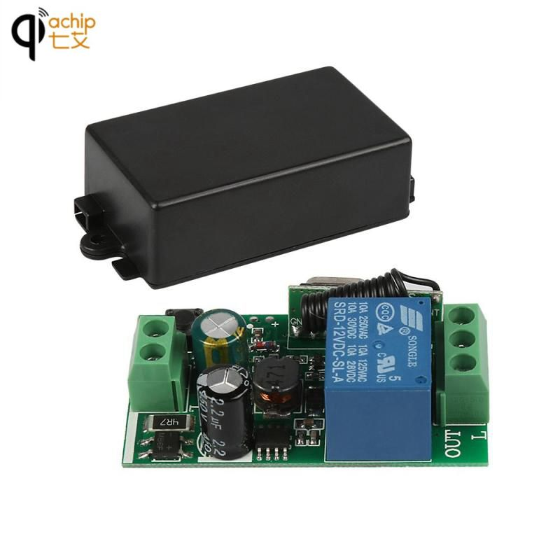 Universal Wireless RF Remote Control Switch AC 85-250V 433MHz 1CH Receiver Relay DIY Module 433 MHz Transmitter Learning Button