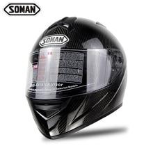 Зоман Brand New 2017 оригинал Углеродного Волокна Мотоциклетный Шлем Полное Лицо Каско SM931