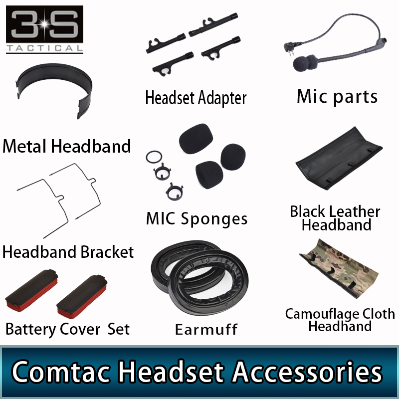 Z Tactical Military Airsoft Comtac II Headset Comtac 2 Comtac Iii Headset Aviation Headphones Accessories