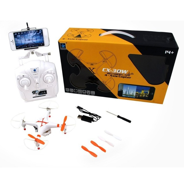 F13485/7 Cheerson CX-30W 2.4 GHz 4CH Gyro WiFi RC Quadcopter UFO FPV con Transmisor de Vídeo En Tiempo Real Y 0.3MP Cámara de ALTA DEFINICIÓN