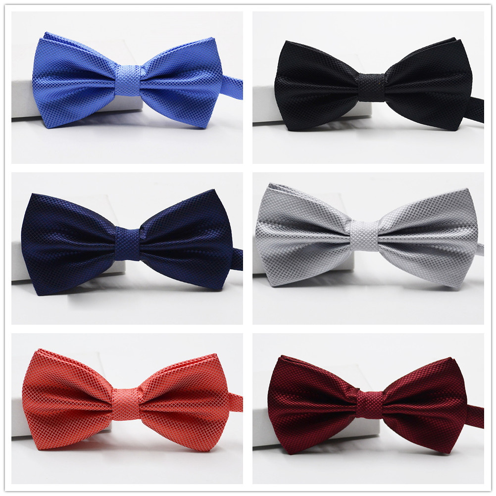 Bow Tie Fashion Wedding Party Decoration For Men Solid Color Cravat Male Bowtie Butterflies Dress Shirt Gift 6 Colors