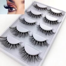 NEW 5 Pairs/Pack Real 3D Mink Fake Eyelashes False Eyelashes Mink Lashes Soft Natural Eyelash Extension Lashes Makeup Cilios