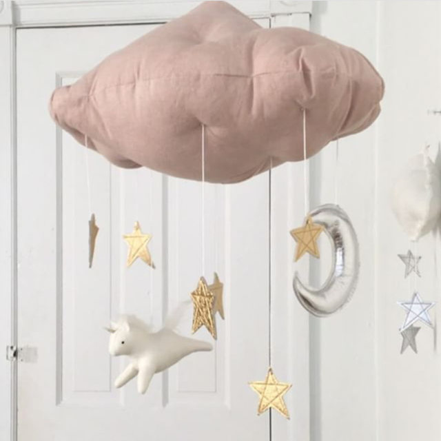 Lm908 Baby Mobile Moon And Stars Nursery Decor Gift Crib Star