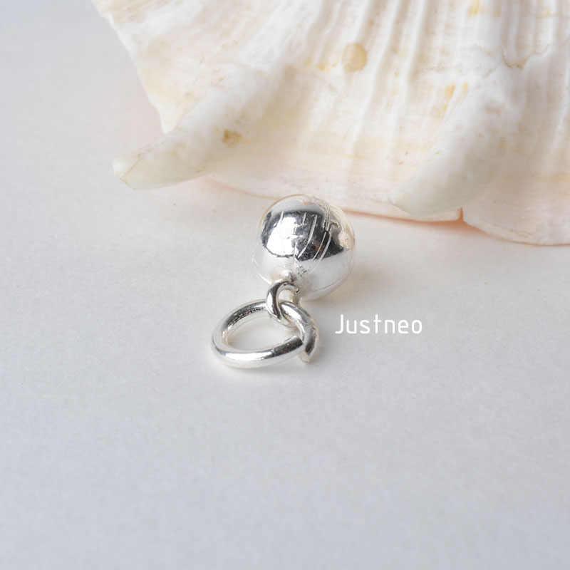 Stałe 925 Sterling Silver mały dzwon wisiorek urok z otwartych Jump pierścień, paciorek do naszyjnika charms dla naszyjnik i wisiorek – biżuteria