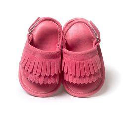 Детская обувь новорожденного с бантом; сандалии для девочек; Летние повседневные модные пляжные сандалии с кисточками для девочек; искусст...