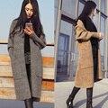 150 ~ 180 cm de altura meninas adolescentes jaqueta e casacos de inverno 2016 longo de tricô outwear 14 15 16 anos de idade velho