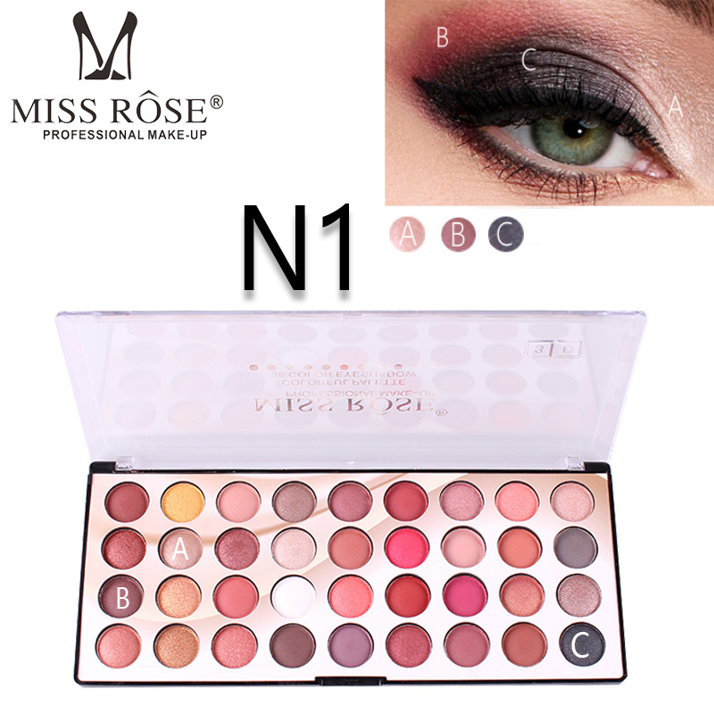 MISS ROSE 36 Color Eyeshadow 3D Colorful Waterproof Eye Shadow Palette Makeup Eye Shadow Palette Private Label Cosmetics dj shadow dj shadow the private press
