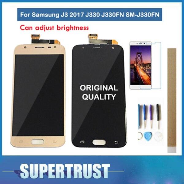 Original Amoled para Samsung Galaxy J3 2017 J330 J330FN SM-J330FN pantalla LCD con Sensor táctil MONTAJE DE digitalizador de cristal con kit