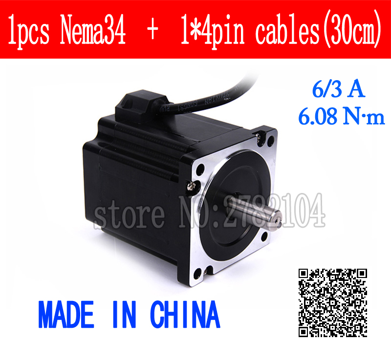 86 Stepper Motor 2 PHASE 4-lead Nema34 motor 86BYGH High torque 96MM 6.0A 6.08N.M LOW NOISE motor for CNC XYZ86 Stepper Motor 2 PHASE 4-lead Nema34 motor 86BYGH High torque 96MM 6.0A 6.08N.M LOW NOISE motor for CNC XYZ