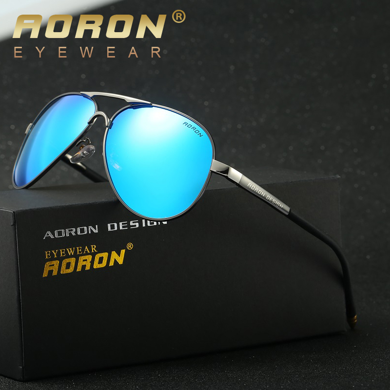 53a12c2d6ab AORON mens brand polarized sunglasses new designer UV400 goggles womens  leisure eyewear fashion glasses oculos de sol 8503-in Sunglasses from Men s  Clothing ...