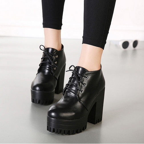 shoes 35 Picture - More Detailed Picture about Womens Black Chunky ...
