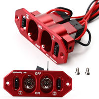 Heavy Duty Dual Power Switch w/ 4 Cable Lock For Servo RC Airplane Kits