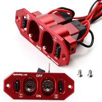 Zware Dual Schakelaar w/4 Kabel Lock Voor Servo RC Vliegtuig Kits