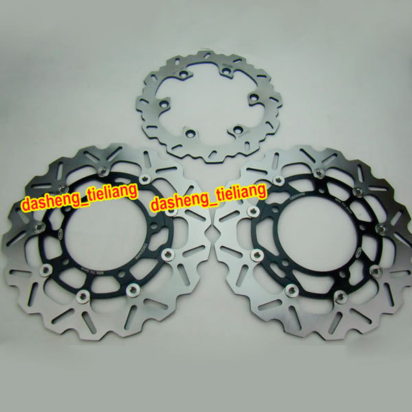 Motorcycle Front Rear Brake Disc Rotors Set For Suzuki Hayabusa GSX1300R 2008 2009 2010 2011 2012 2013 2014 2015 2016 Black