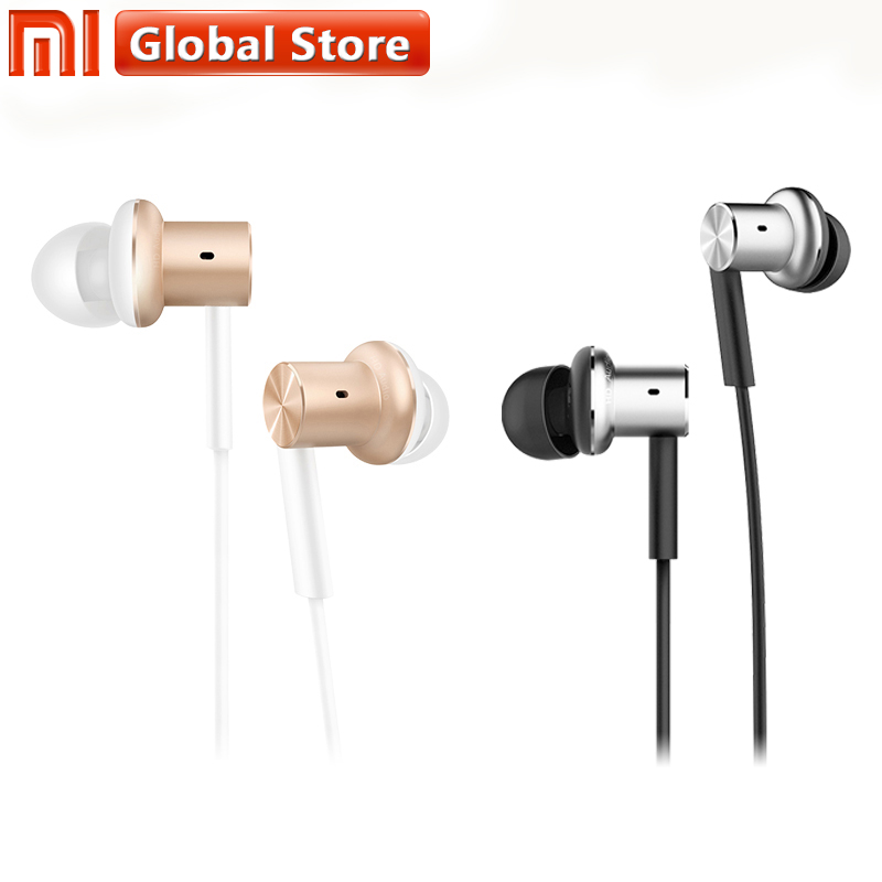 Original Xiaomi Earphones Hybrid Triple Headphones Hybrid Dynamic Balanced Armature Drivers In Ear With Mic Hands-free Headsets original xiaomi pro hd in ear hybrid earphones