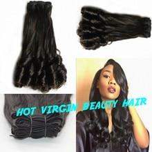 Top Quality Double Drawn 8A Aunty Funmi Hair Weave Romance Bouncy Curls Virgin Indian Human Hair 100% Human Funmi Hair Extension
