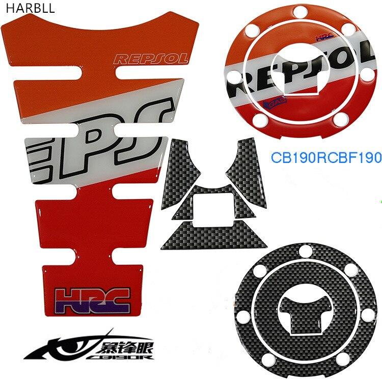 HARBLL 1PCS For Honda Burst Eye CB190R, CBF190R motorcycle fuel tank cap stickers ,crystal soft three-dimensional applique