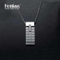 Fashion 4 In 1 Bio Elements Energy Magnetic 316L Stainless Steel Pendant Necklace Men Women Chain