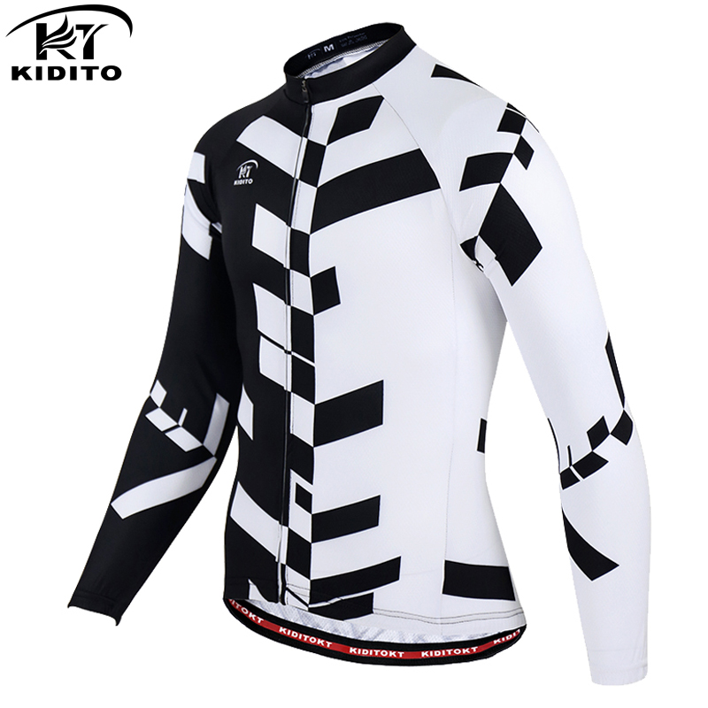 KIDITOKT Long Sleeve Cycling Jersey Autumn Spring 100% Polyester Cycling Clothing Maillot Ropa Ciclismo Road Cycling Jersey