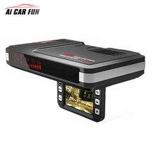 Универсальный 2 в 1 Антирадары Видеорегистраторы для автомобилей камеры 720 P регистраторы поток обнаружения детектор движения автомобиля Поддержка g-сенсор для всех транспортных средств