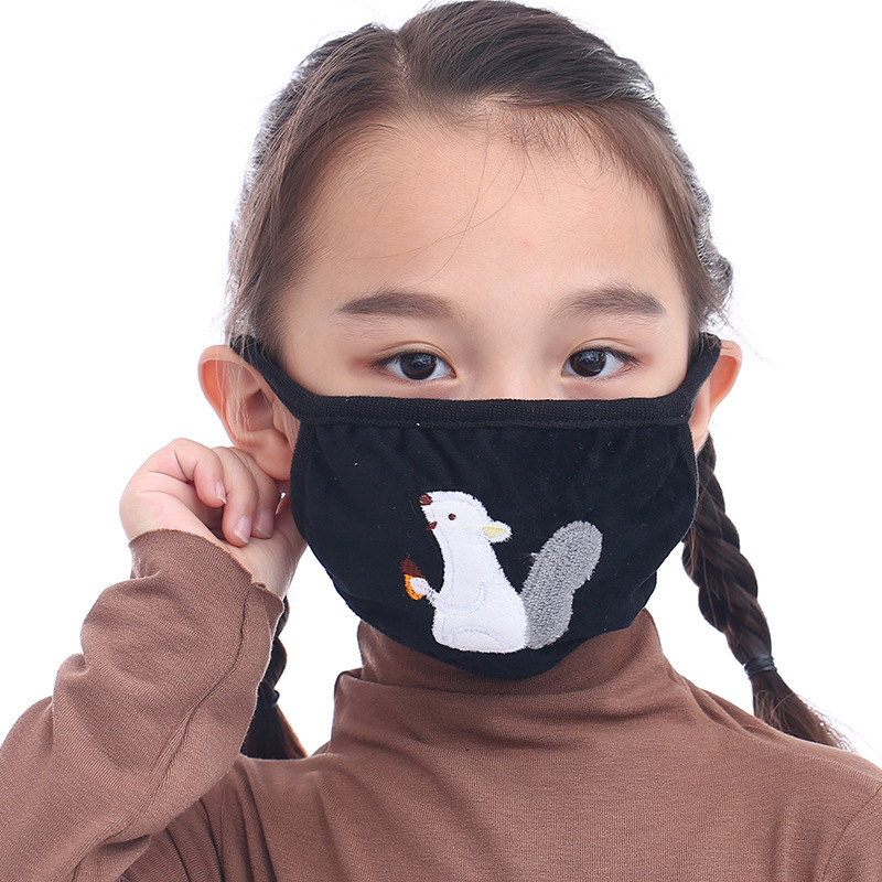 Washable Children Dustproof Anti Pollution Mask  Cotton Unisex  Respirator Reusable Masks Kid Mouth Muffle Keep Warm Mask