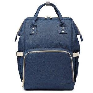 Image 1 - MOONBIFFY, модная сумка для подгузников для мам и мам, Большая вместительная детская сумка, рюкзак для путешествий, дизайнерская сумка для ухода за ребенком