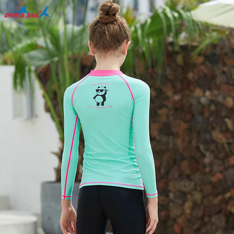 الشباب الاطفال الأساسية جلود UPF 50 + طويلة أو قصيرة الأكمام طفح الحرس ضغط تصفح السباحة قميص الشمس واقية ملابس السباحة أعلى الفتيات الصبي