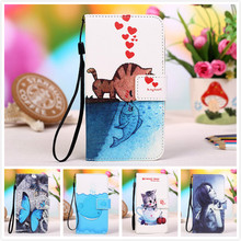 "For Sony Xperia P LT22 4.0"" Butteryfly Flower Leather Case,Painting Patterns Stand Wallet 2 Credit Card Slots+Lanyard gift"