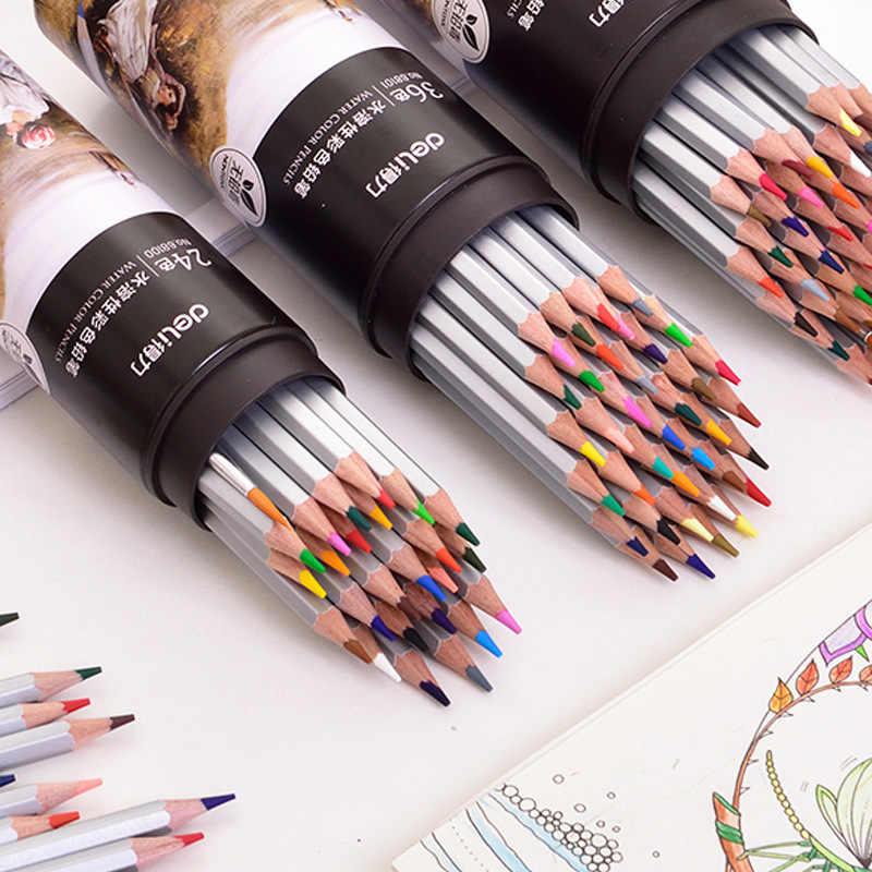 น้ำที่ละลายน้ำได้ดินสอสีชุด 24/36/48/72 สีน้ำมันภาพวาดอุปกรณ์ศิลปะการเขียน Lapis de COR Art Supplies