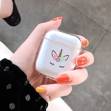 Cartoon Unicorn Case For Apple airpods Case Cover Cute Wireless Bluetooth Earphone Case For Airpods Headphone Protective Cover цена и фото