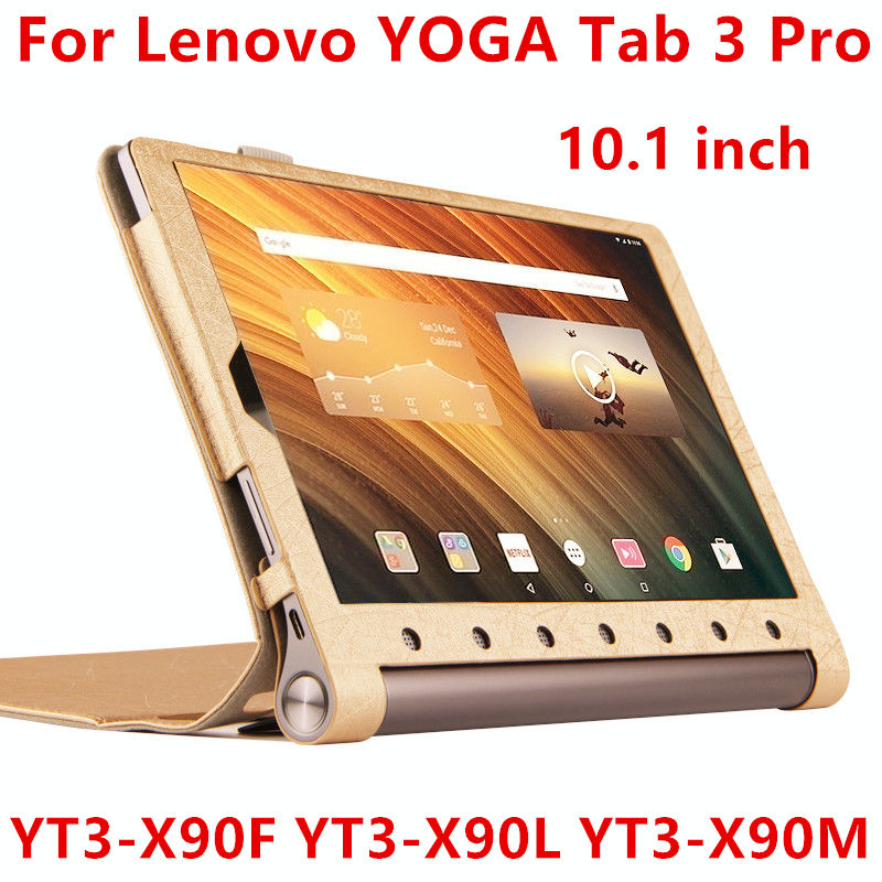 Case For Lenovo Yoga Tab 3 Pro Protective Smart cover Leather Tablet For YOGA YT3-X90F X90L X90M 10.1 inch PU Protector Sleeve new original for lenovo thinkpad yoga 260 bottom base cover lower case black 00ht414 01ax900