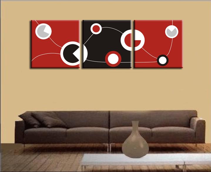 grandes de color rojo y negro y blanco del arte abstracto crculos imagen pintura en aerosol