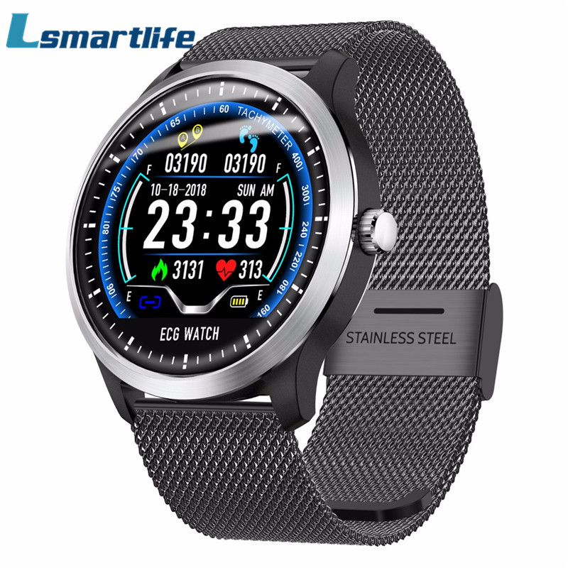 N58 ECG Smartwatch Men Smart Watch Support Electrocardiogram Measurement 3D UI Multisport Fitness Tracker Stainless Steel-in Smart Watches from Consumer Electronics    1