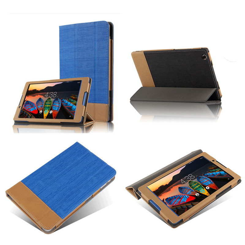 SD Luxury Flip PU leather protective Book Spell color Case With Magnet stand cover For Lenovo tab 3 8 TB3-850F Tb3-850M 8.0